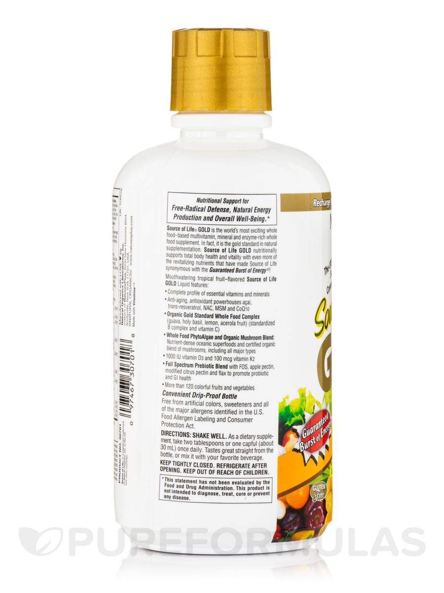 Animal Parade Gold Childrens Liquid Multivitamin Mineral Natures Plus Calcium Supplement Tropical Fruit Flavor 30 Fl Oz