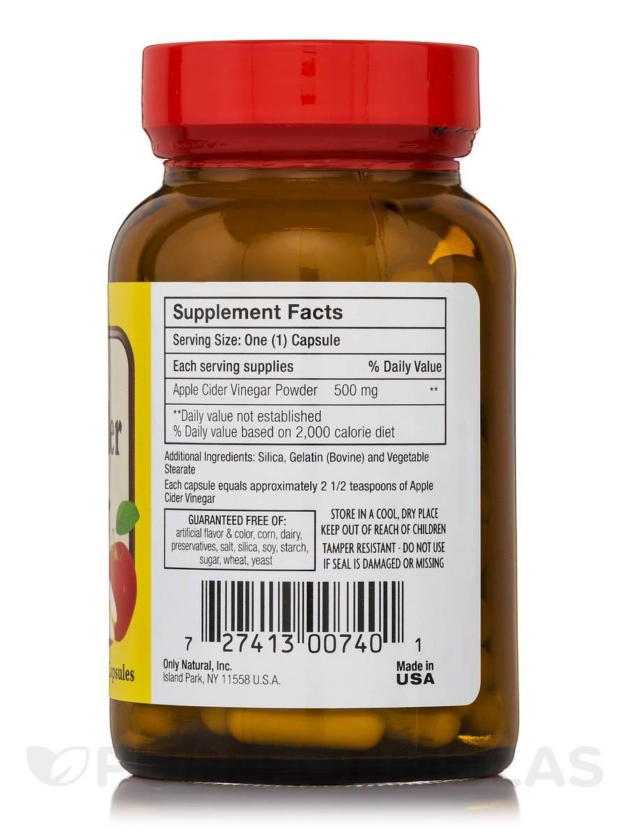 Apple Cider Vinegar Pills Nutrition Facts | Besto Blog