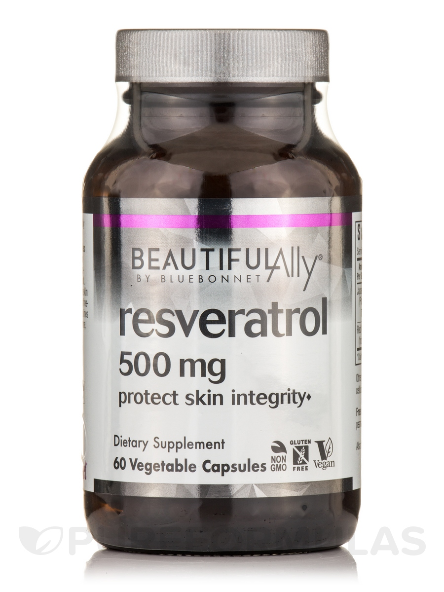 Beautiful Ally Resveratrol 500 Mg 60 Vegetable Capsules