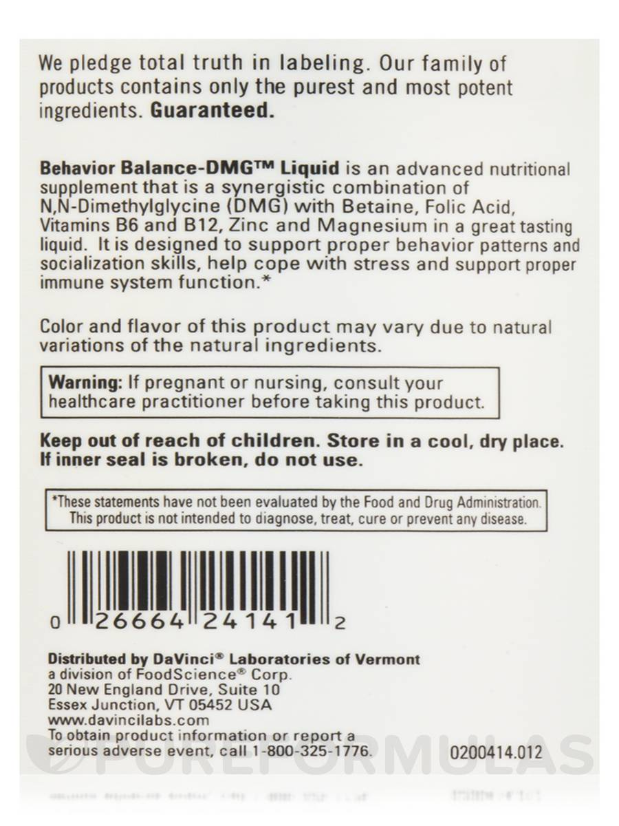 Behavior Balance DMG™ Liquid 12 Fl Oz 360 Ml