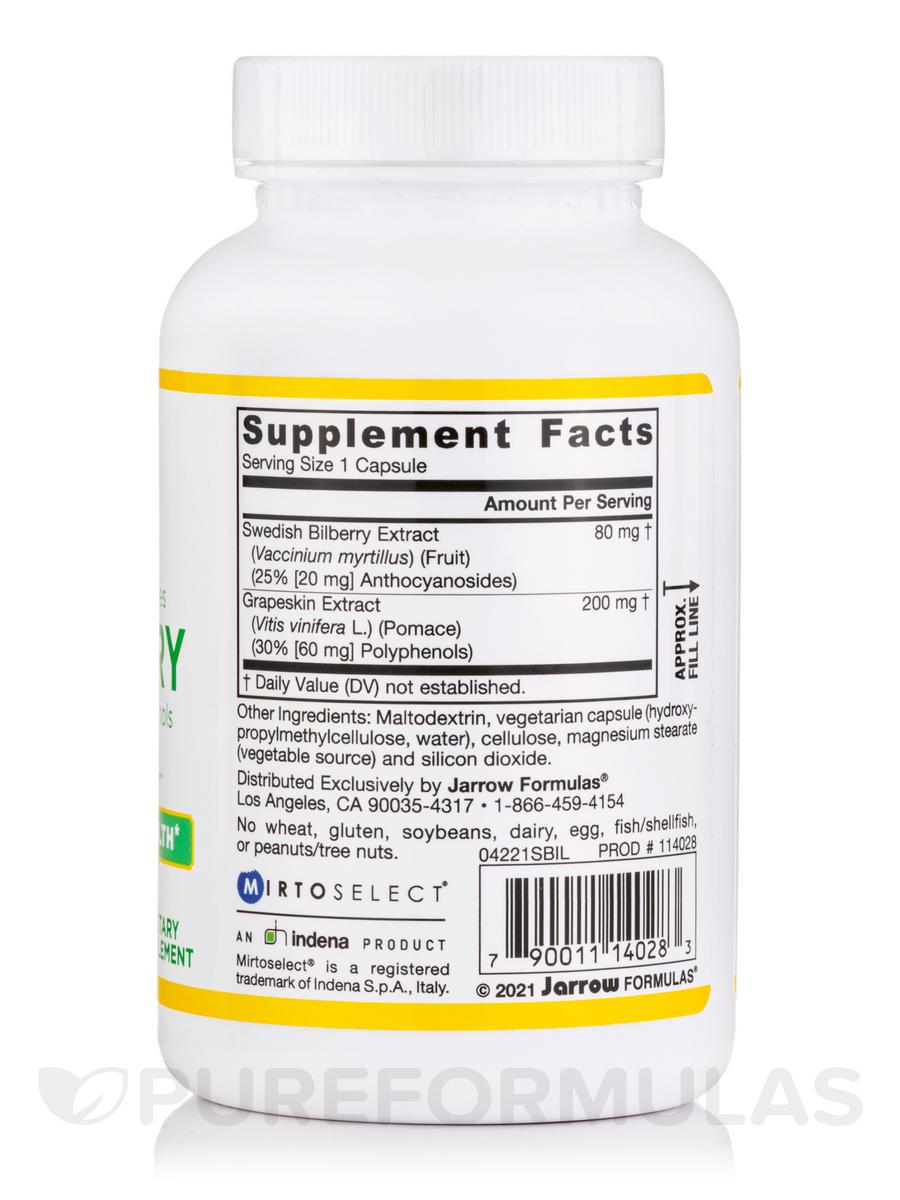 120 Veggie Capsules: Bilberry + Grapeskin Polyphenols 280 Mg