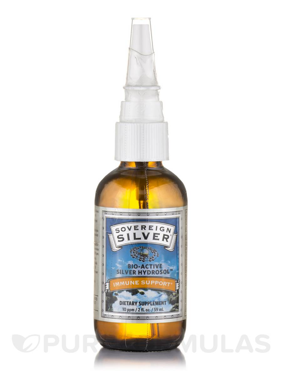 Bio Active Silver Hydrosol Vertical Spray 10 Ppm 2 Fl