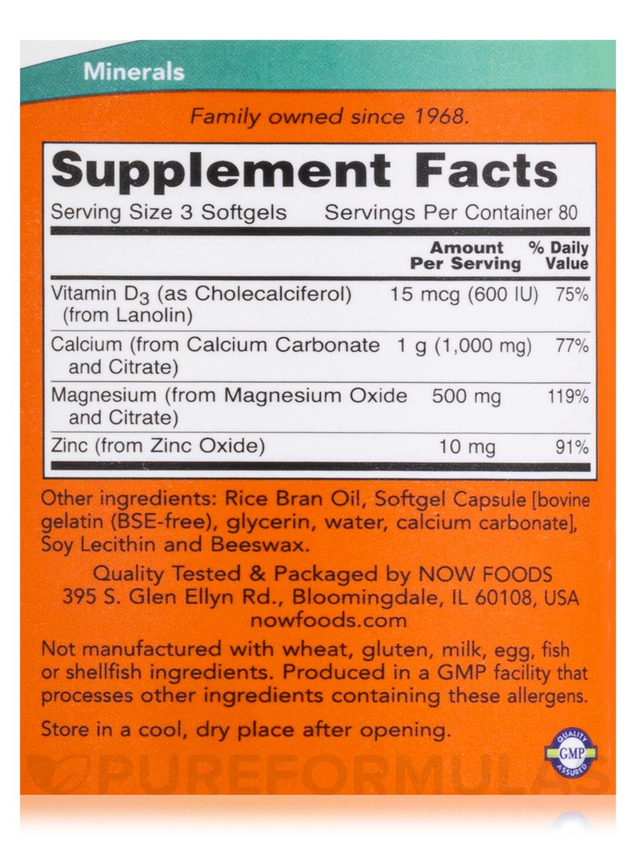 Calcium & Magnesium - 240 Softgels