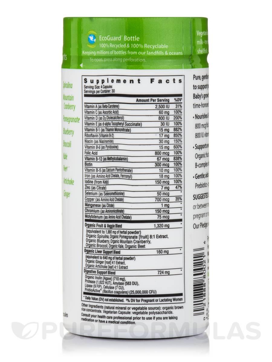 Certified Prenatal Multivitamin 120 Vegetarian Capsules