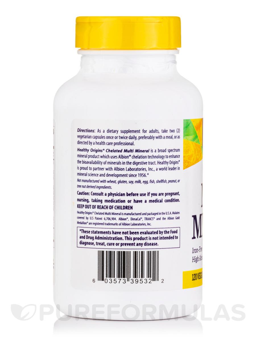 120 Veggie Capsules: Chelated Multi Mineral, Iron Free