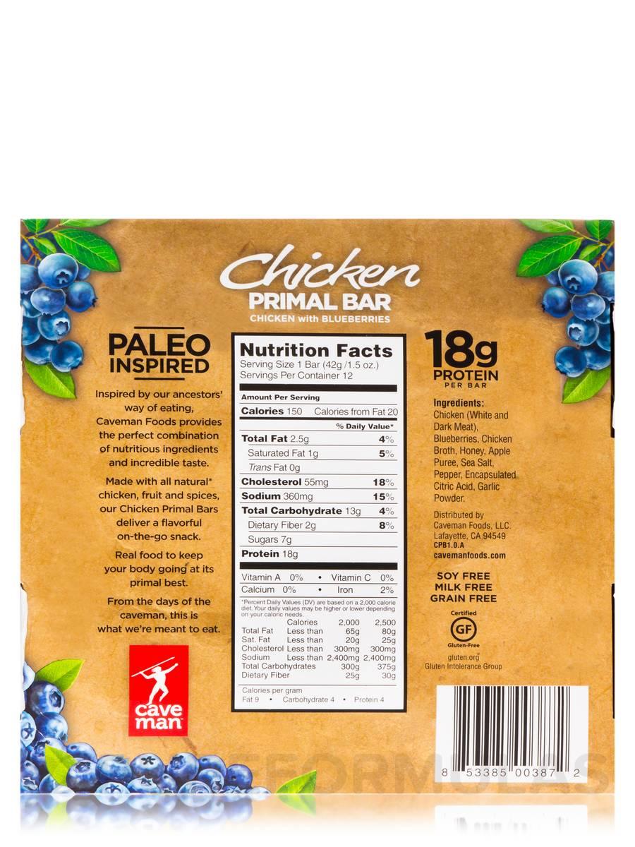 Caveman Primal Bar : Chicken primal bar blueberry pepper box of bars