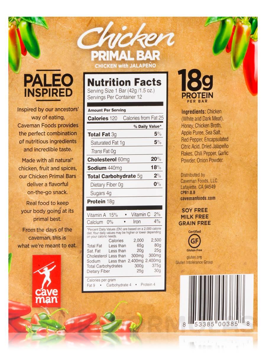 Caveman Food Bars : Caveman bars nutrition facts ftempo