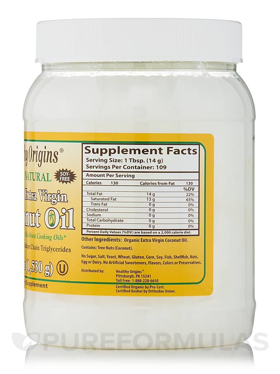 Coconut Oil Organic Extra Virgin - 54 Oz 1,530 Grams-5161