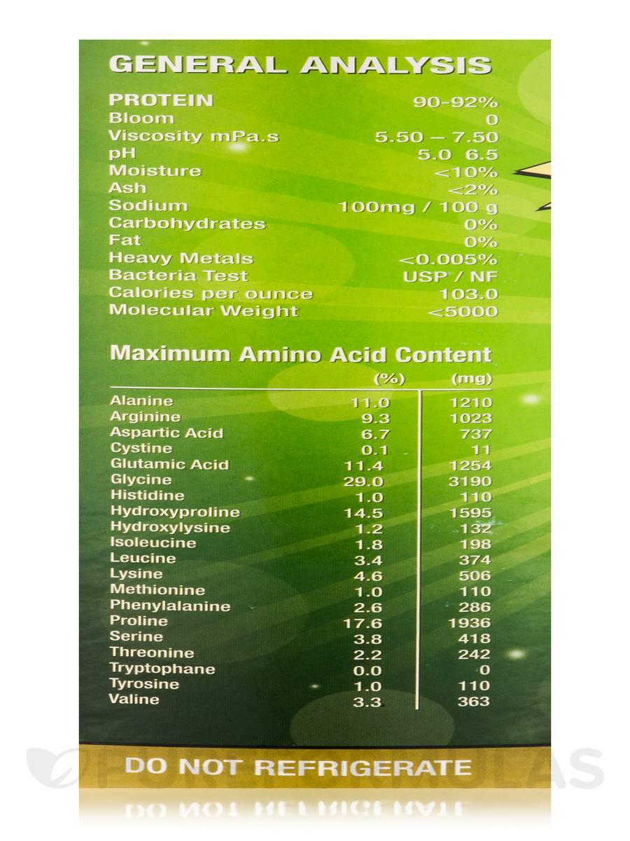 Collagen Hydrolysate Powder Unflavored 16 Oz 454 Grams