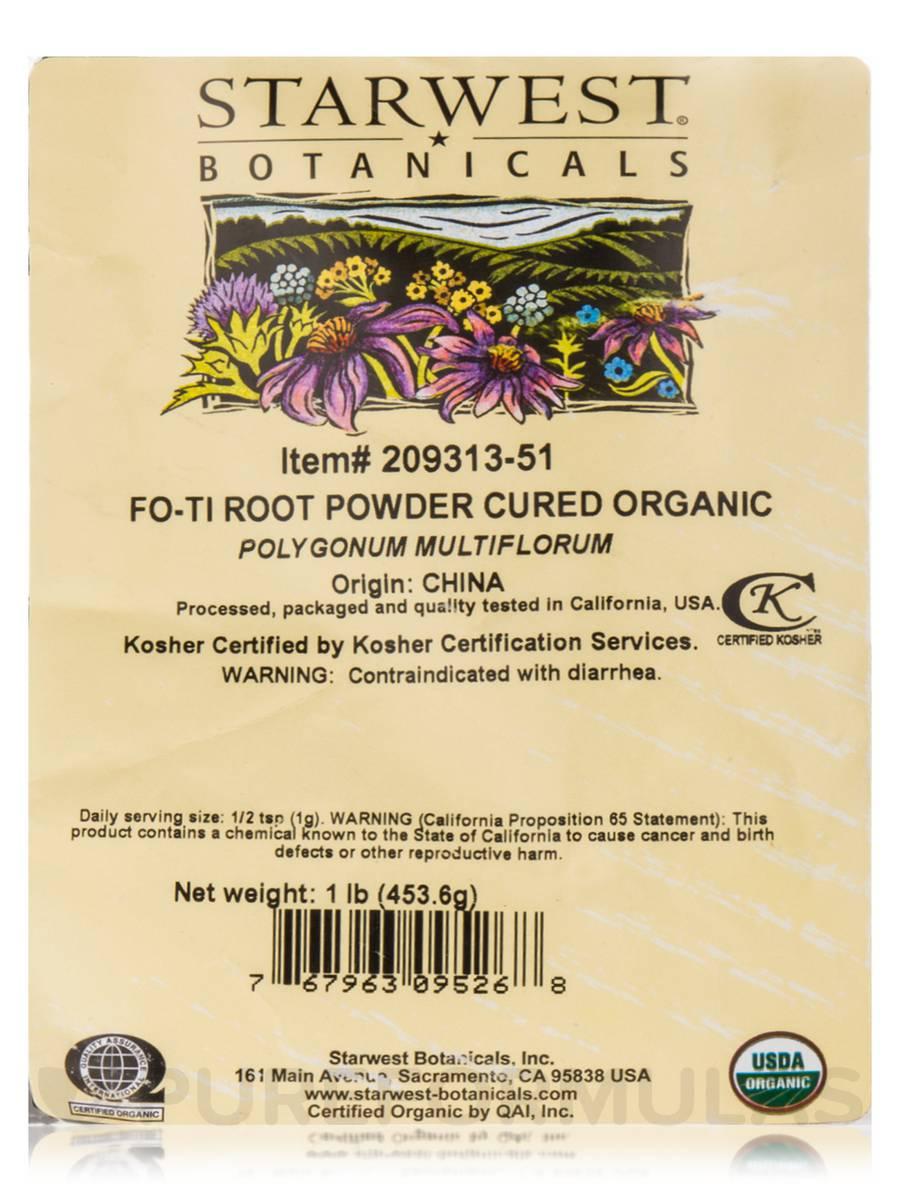 Fo Ti Root Powder Cured Organic 1 Lb 4536 Grams