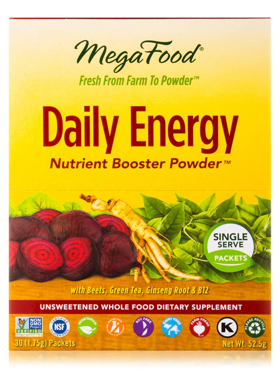 Daily Energy Nutrient Booster Powder 30 Packets 1 75