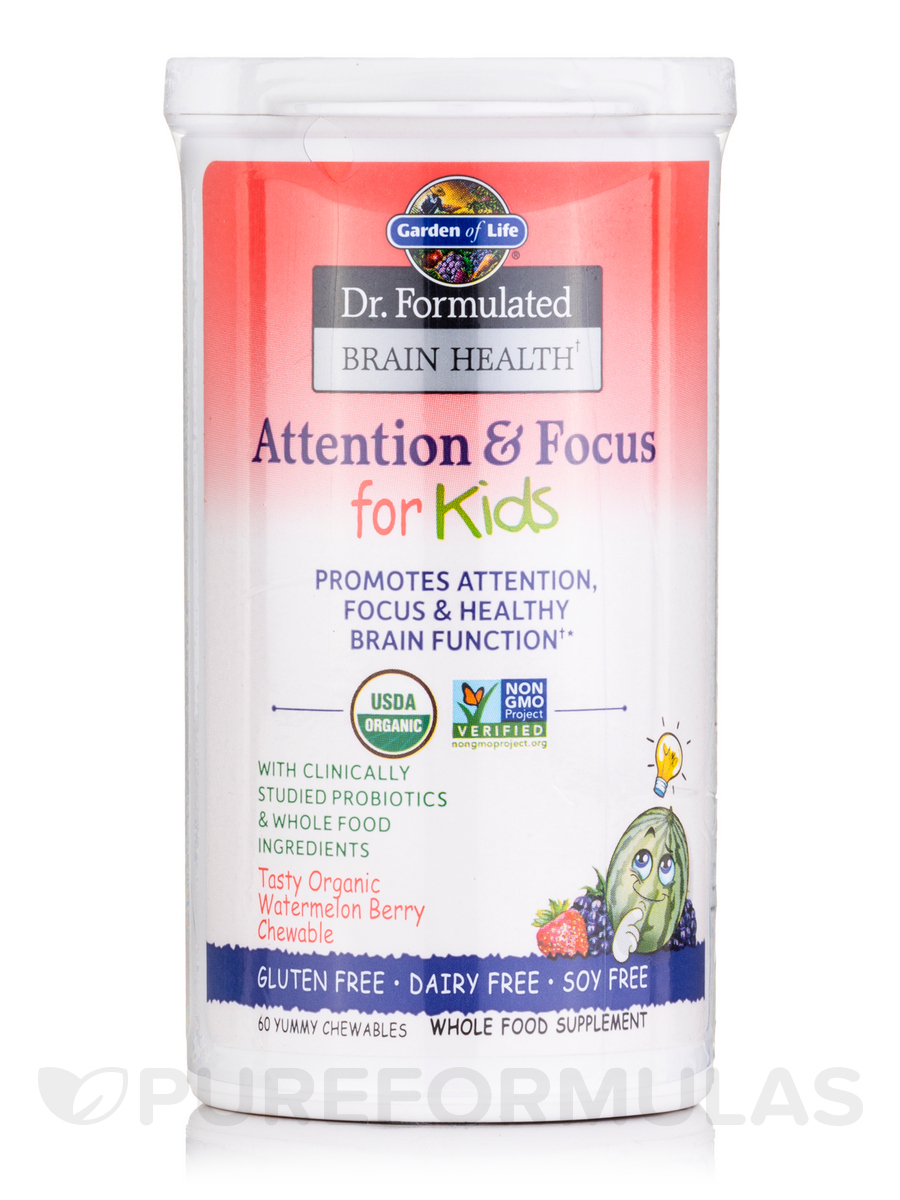Dr formulated brain health attention focus for kids - Garden of life children s probiotics ...