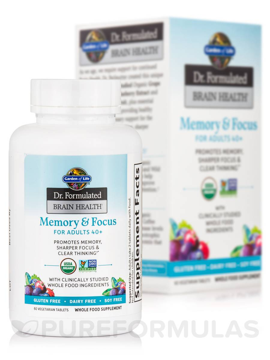 Dr Formulated Brain Health Memory Focus For Adults 40 60