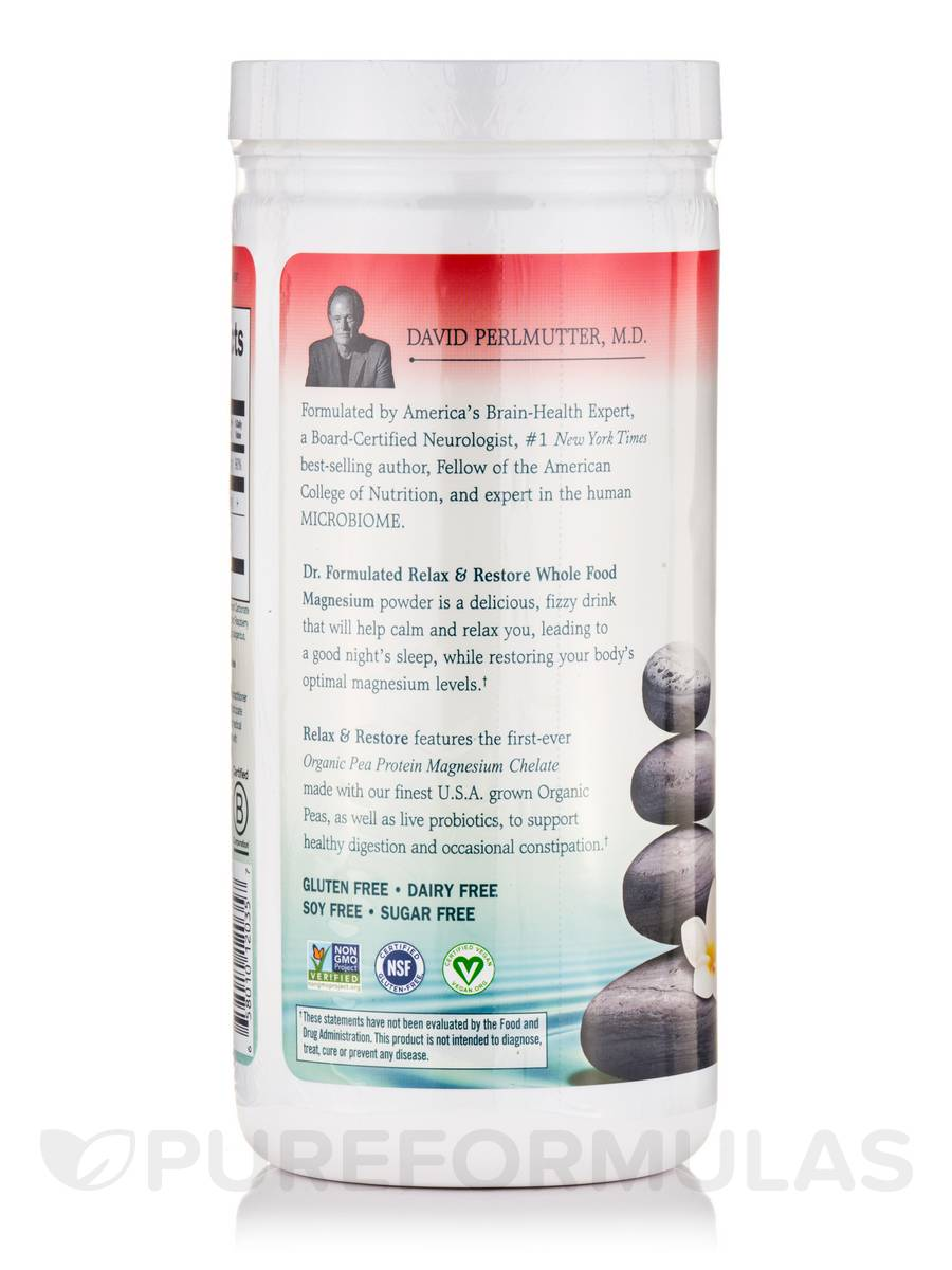 Dr formulated magnesium relax restore raspberry lemon 16 3 oz 461 grams for Garden of life relax and restore