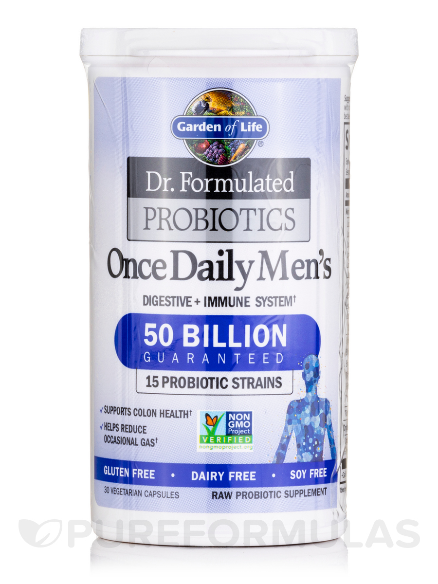 Dr Formulated Probiotics Once Daily Men 39 S 30 Vegetarian Capsules