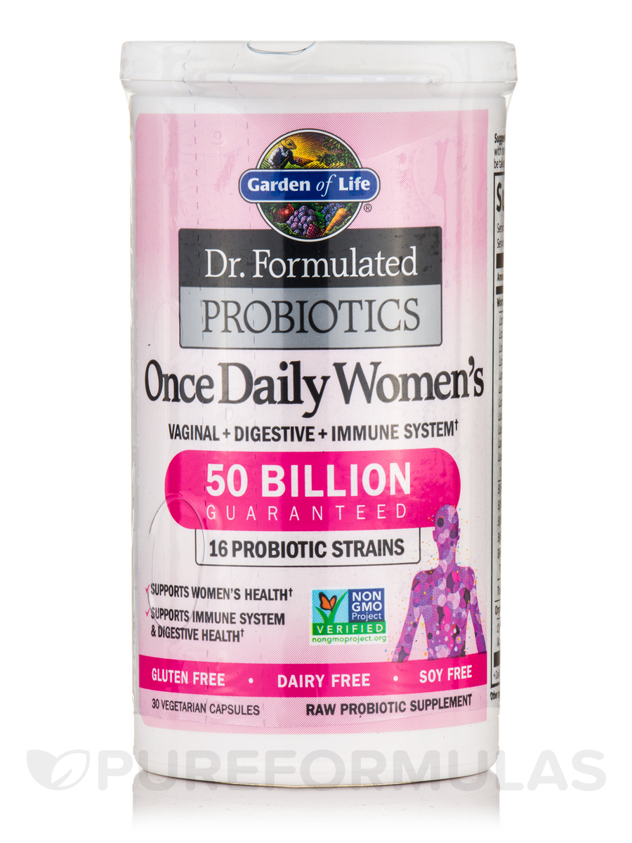 Formulated Probiotics Once Daily Womens 30 Vegetarian Capsules