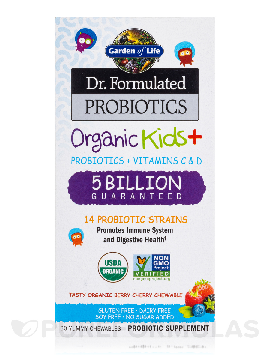 Formulated Probiotics Organic Kids 30 Vegetarian Chewables