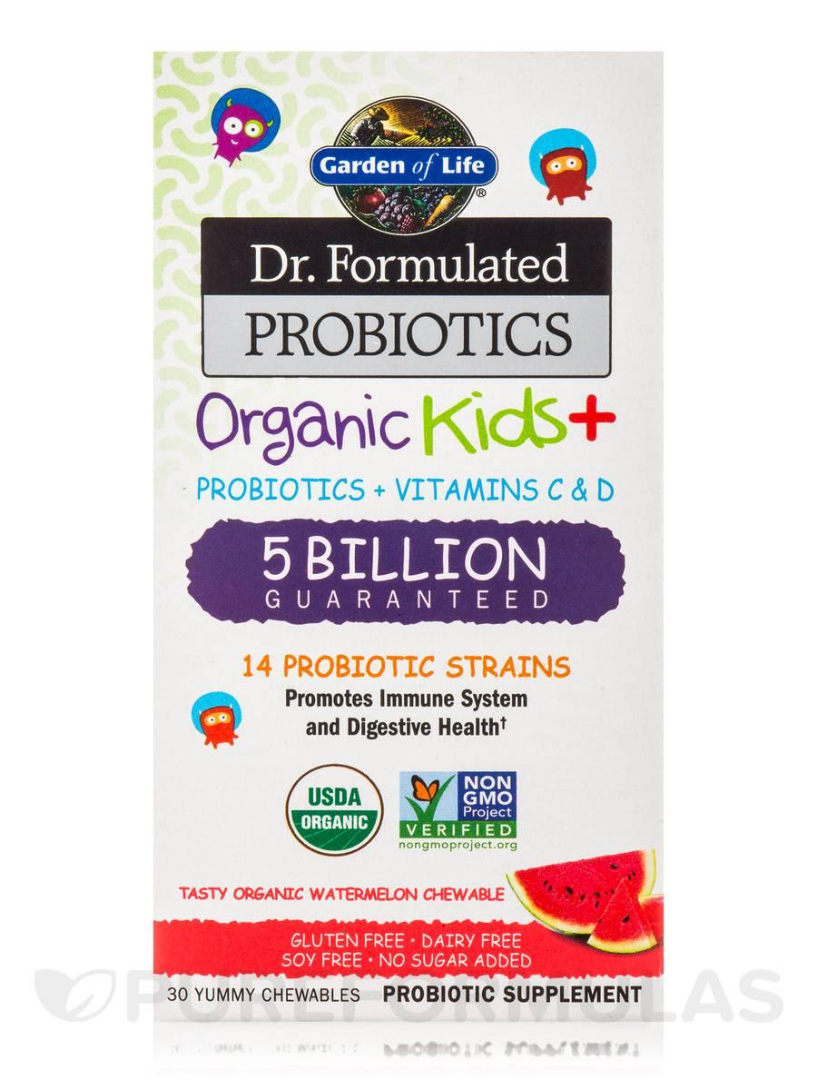 Dr Formulated Probiotics Organic Kids 5 Billion Cfu Watermelon Flavor 30 Chewables