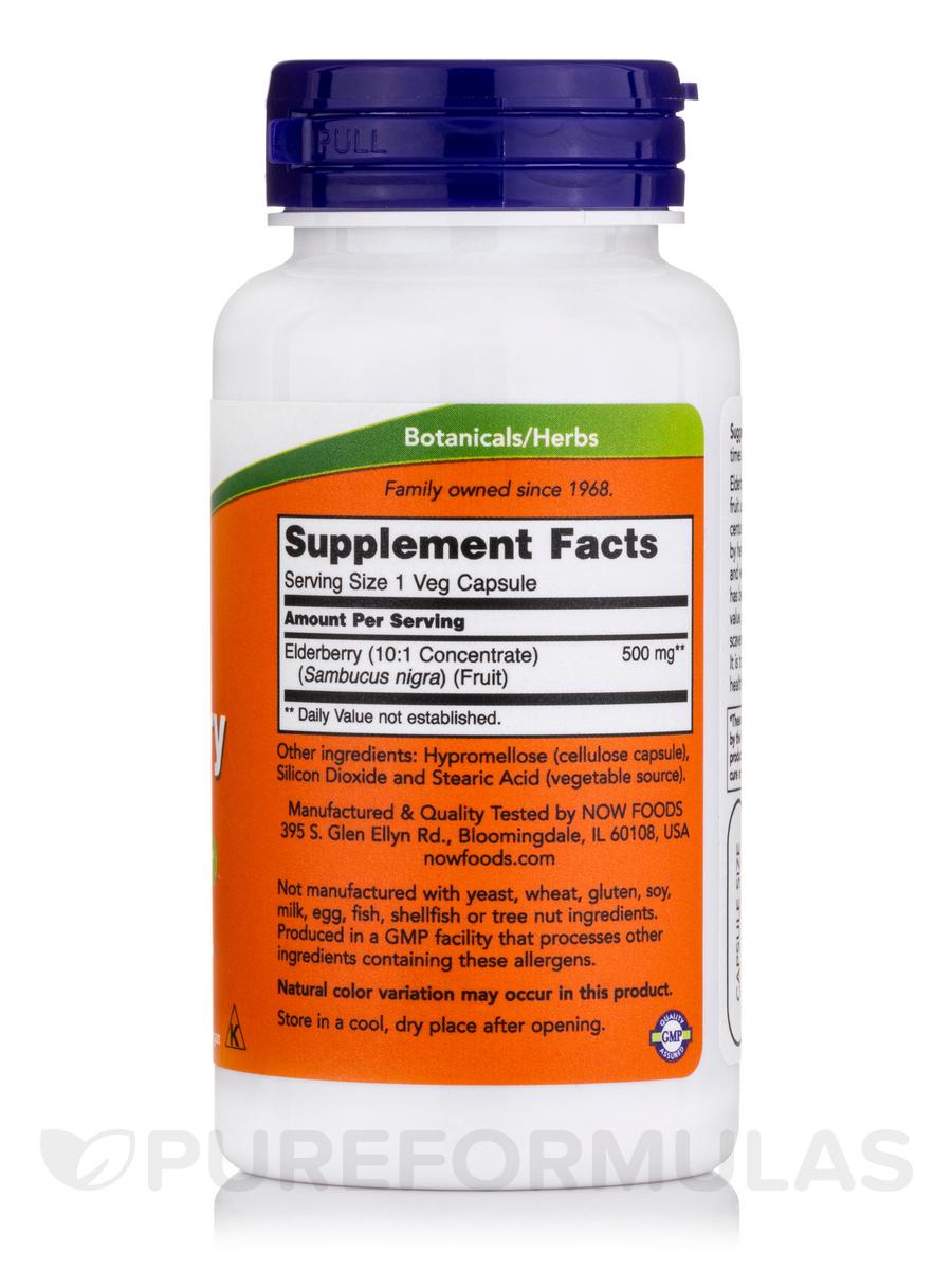 Elderberry Extract 500 Mg 60 Vegetarian Capsules