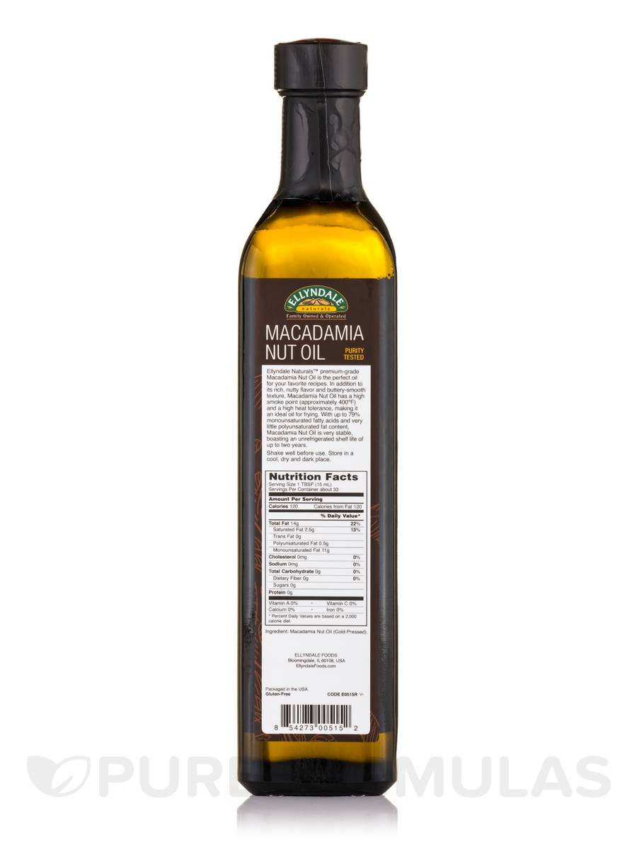 Cooking with macadamia nut oil