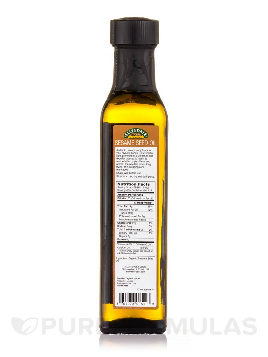 Ellyndale Foods® Organic Extra Virgin Sesame Seed Oil - 8 45 fl  oz (250 ml)
