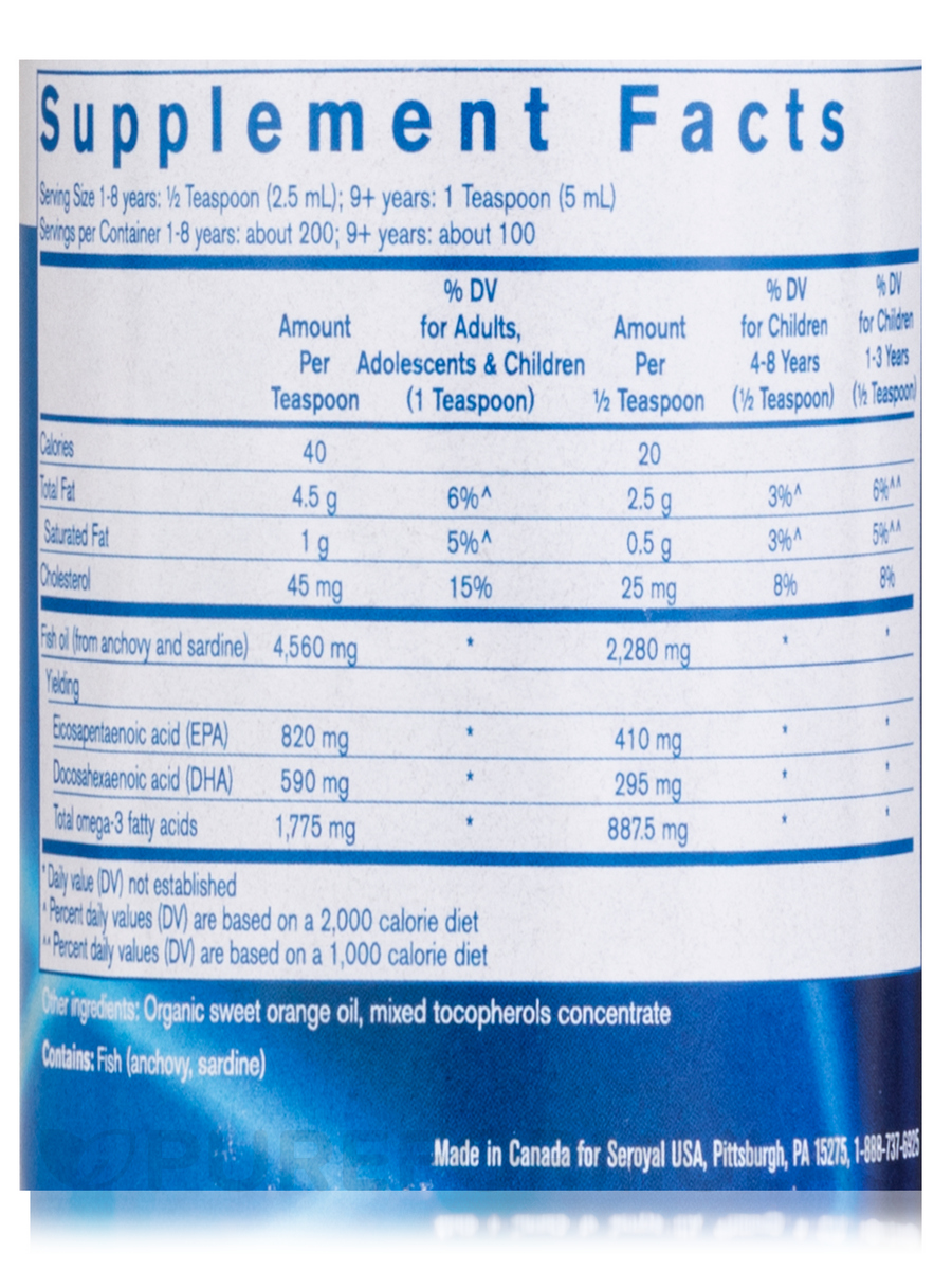 How many calories in 1 teaspoon of fish oil 10001 wicked for How many calories are in fish