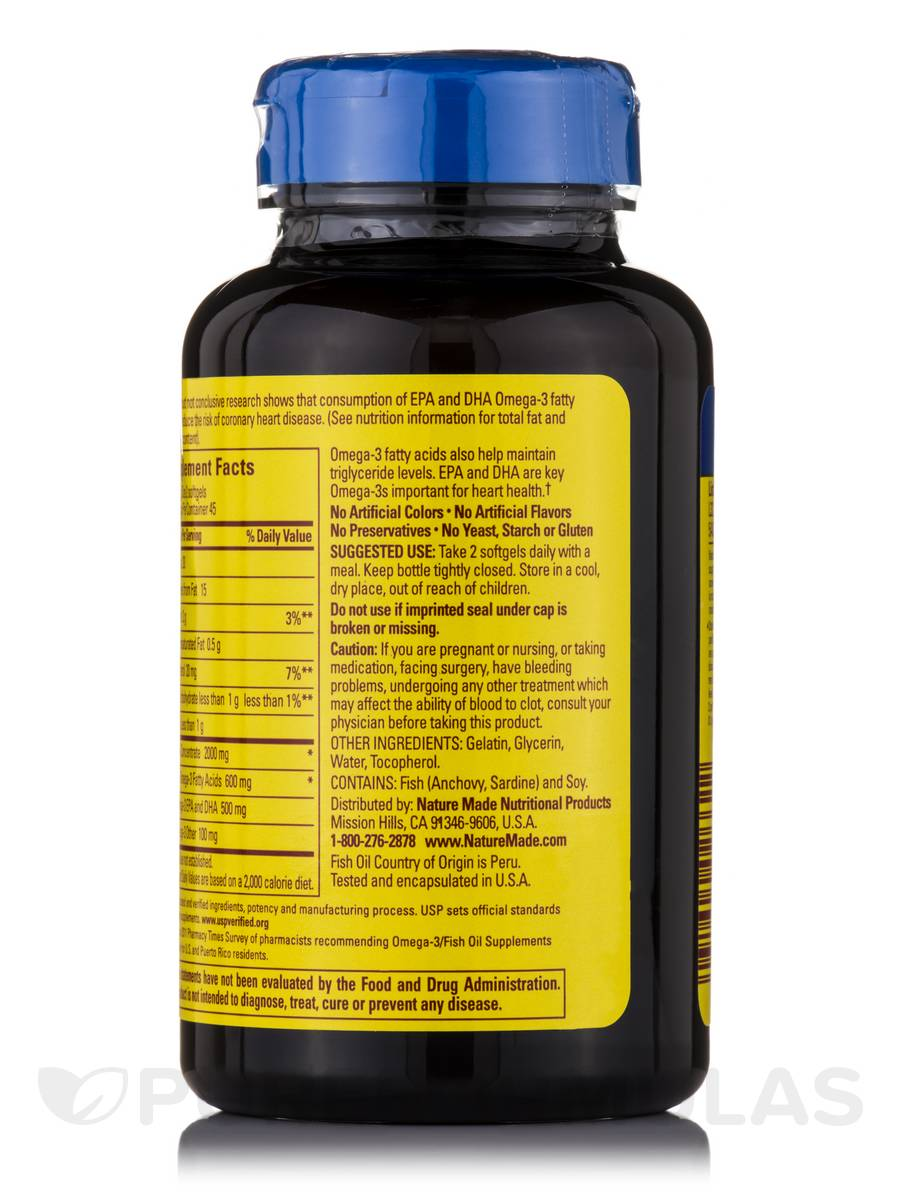 Fish oil 1000 mg omega 3 300 mg 90 softgels for Giving dogs fish oil