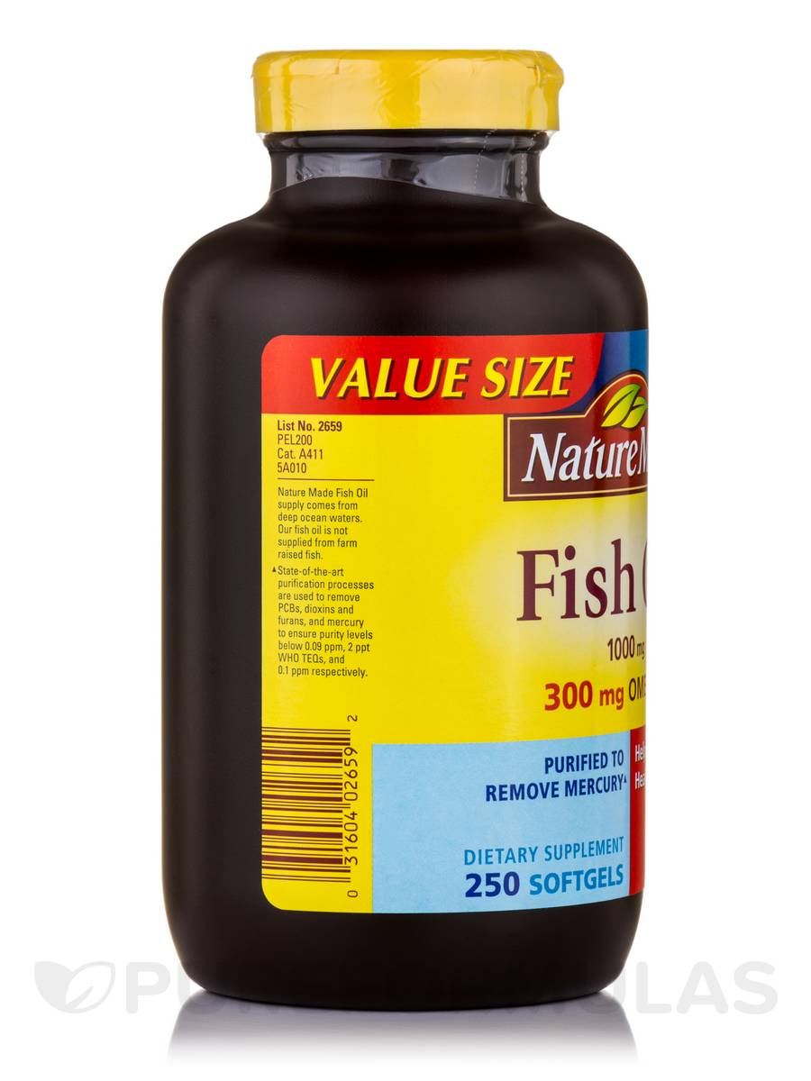 Fish oil 1000 mg omega 3 300 mg 250 softgels for Giving dogs fish oil