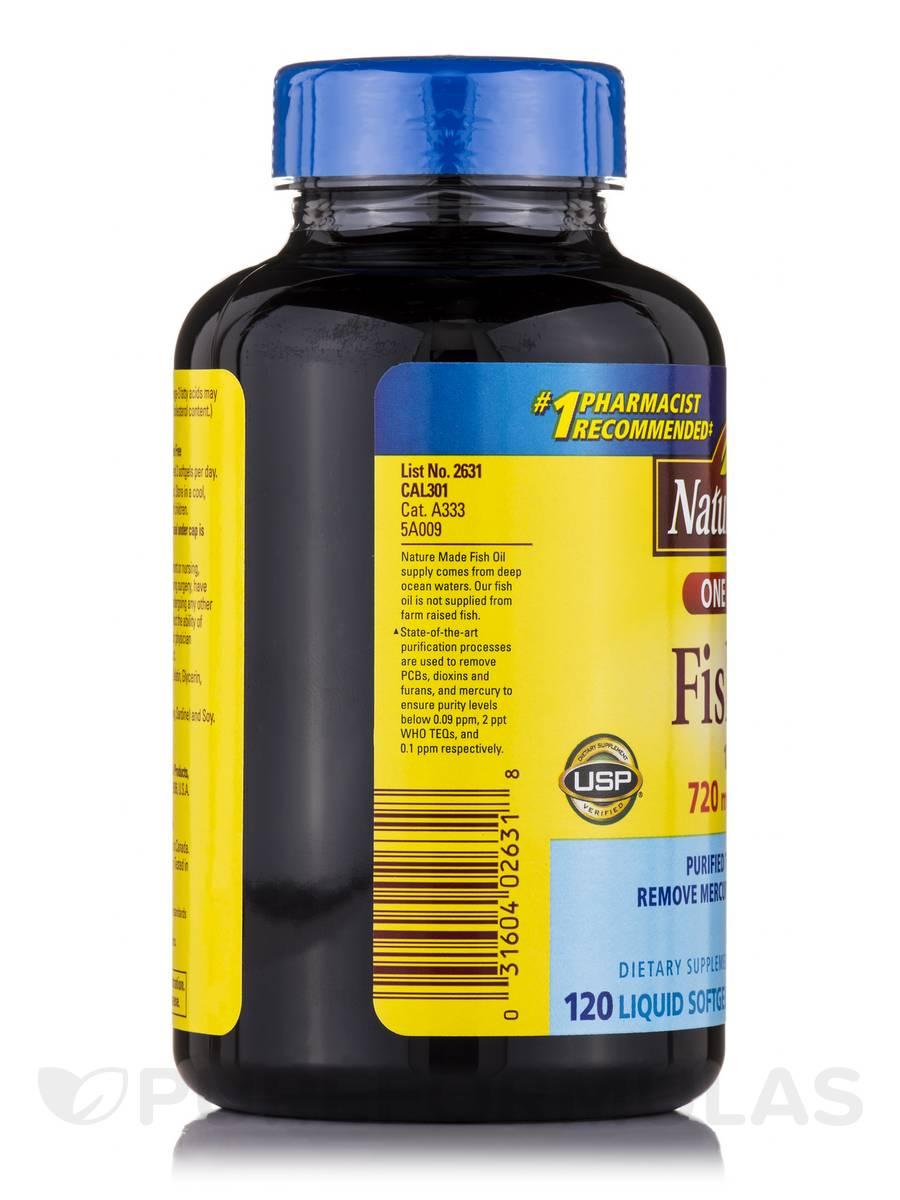 Fish oil 1200 mg omega 3 720 mg 120 softgels for Fish oil softgels