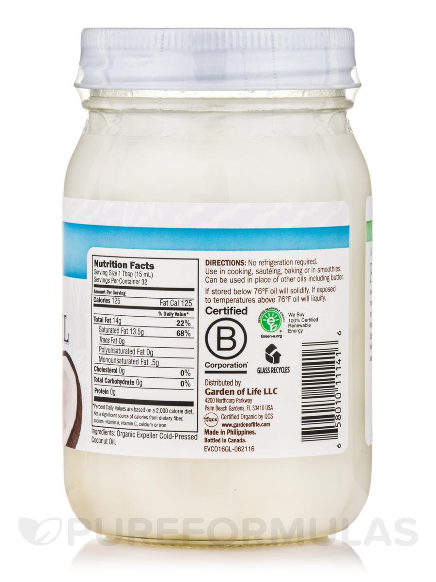 Raw Extra Virgin Coconut Oil - 16 Fl Oz 473 Ml-8805