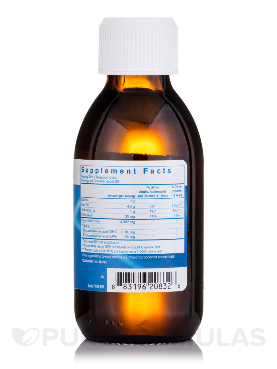 Dha finest pure fish oil natural orange flavor 5 1 fl for Fish oil memory