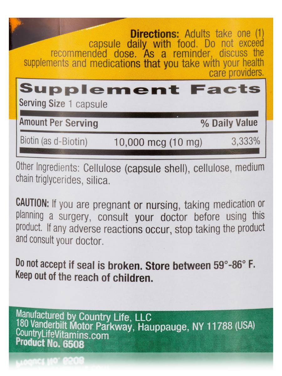 Potency Biotin  Mg  Vegan Capsules - How much biotin to take for hair growth