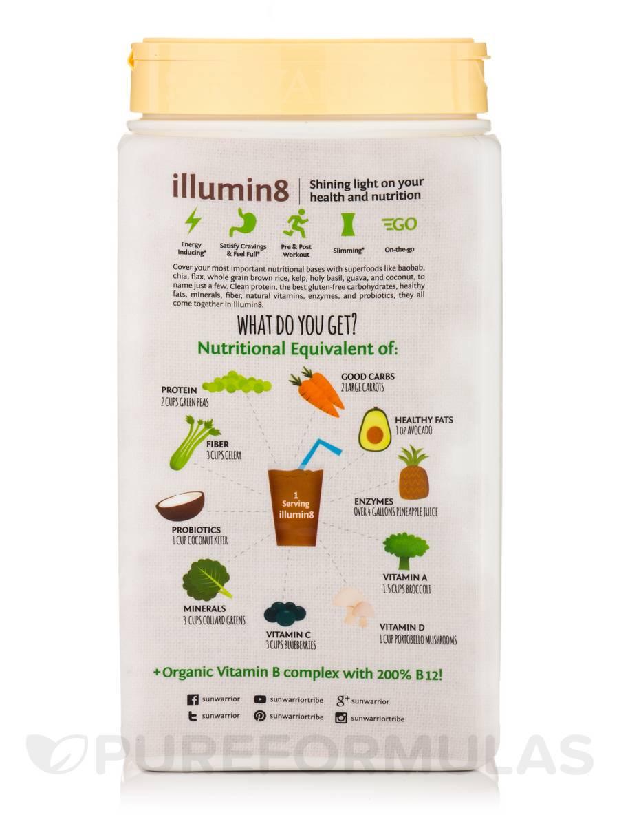 Illumin8 Plant Based Organic Meal Vanilla Bean Flavor 1 76 Lb 800 Grams