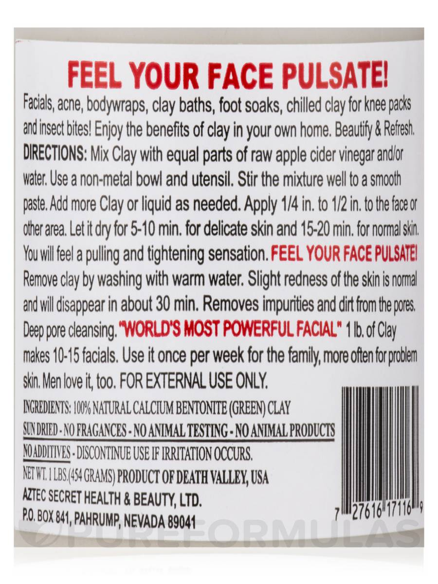 Aztec Secret Indian Healing Clay Deep Pore Cleansing, 1 Pound