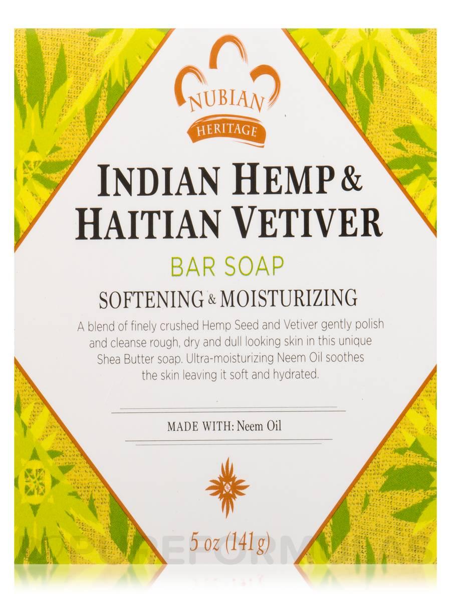 Indian Hemp & Haitian Vetiver Bar Soap - 5 oz (141 Grams)