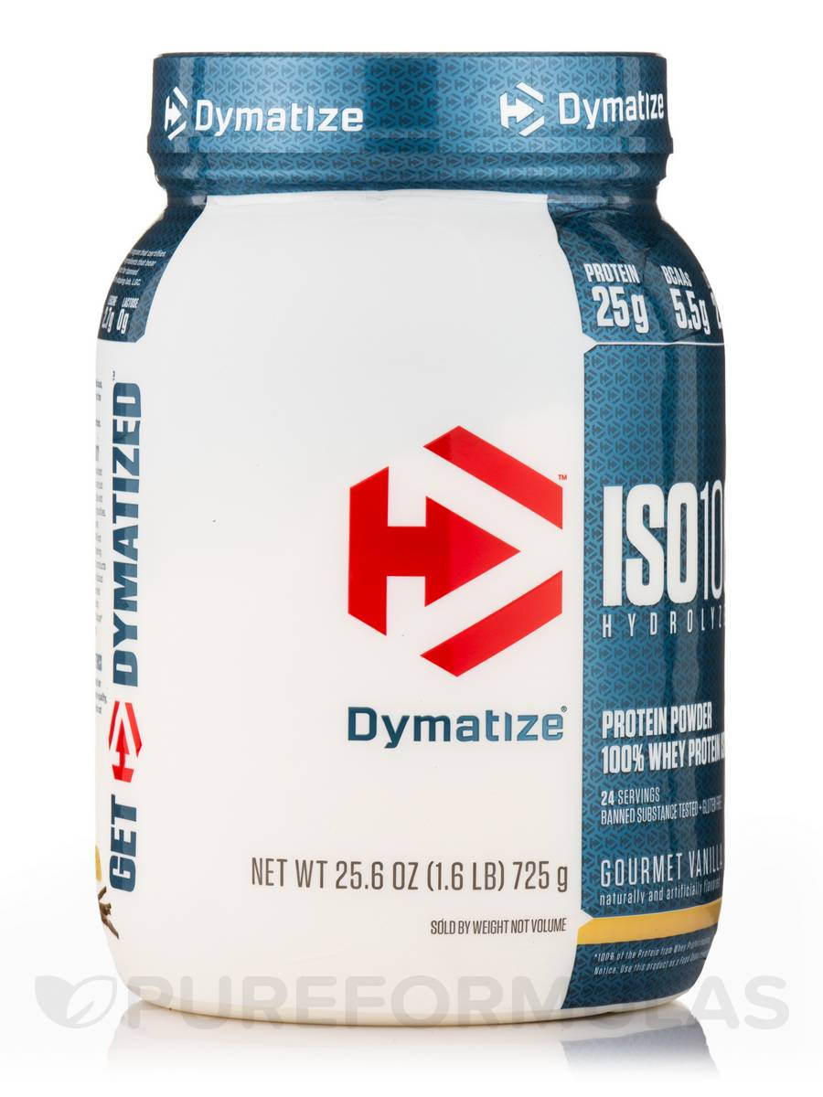 Iso 100 Hydrolyzed Whey Protein Isolate Gourmet Vanilla Flavor 16 Lbs 725 Grams