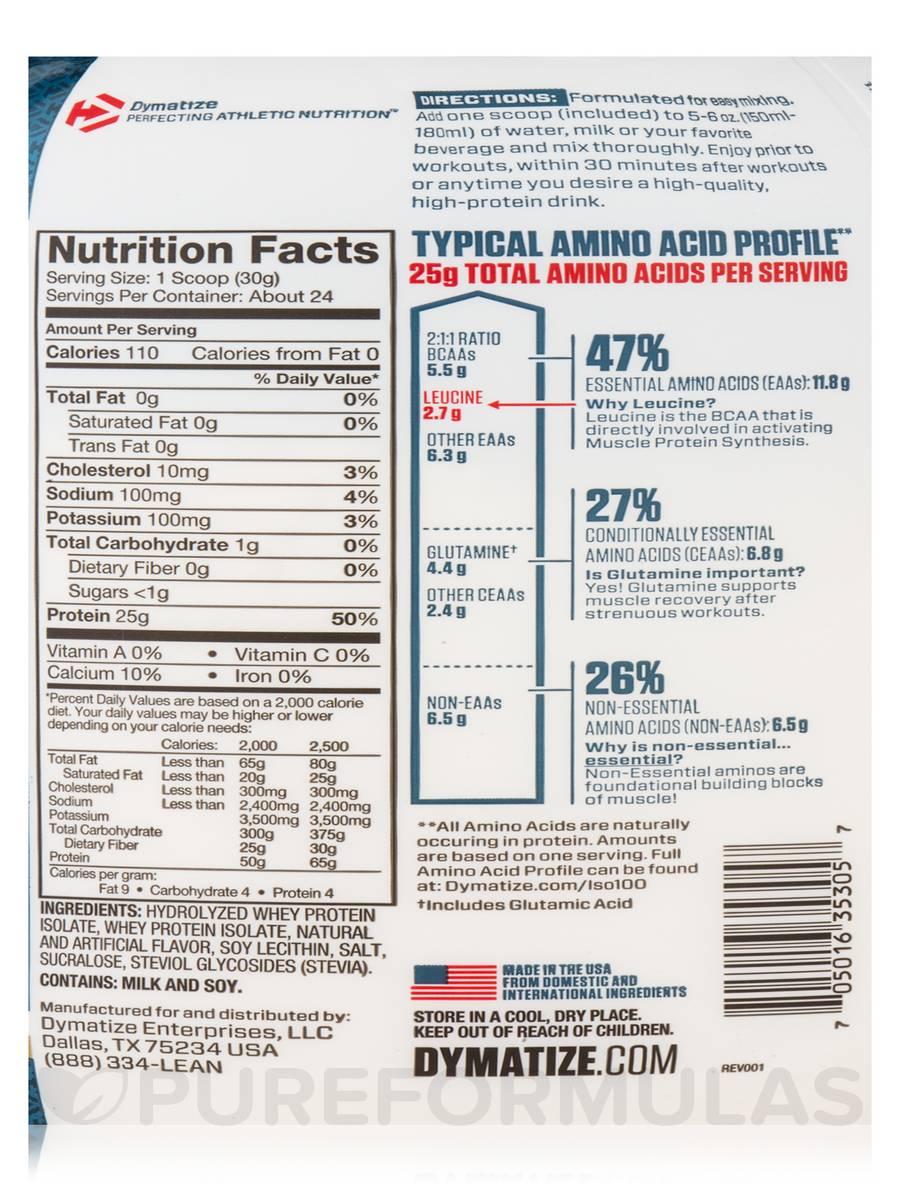 dymatize iso-100 gourmet vanilla 5 lb protein isolate