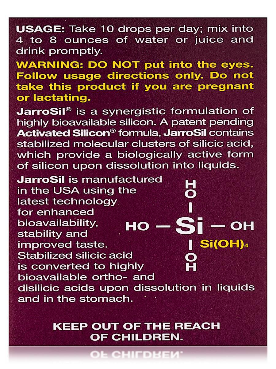 JarroSil Activated Silicon, 60 ml, Jarrow Formulas ...