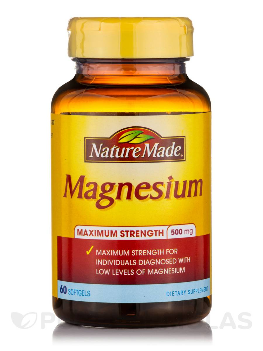 Nature Made Magnesium  Mg Softgels