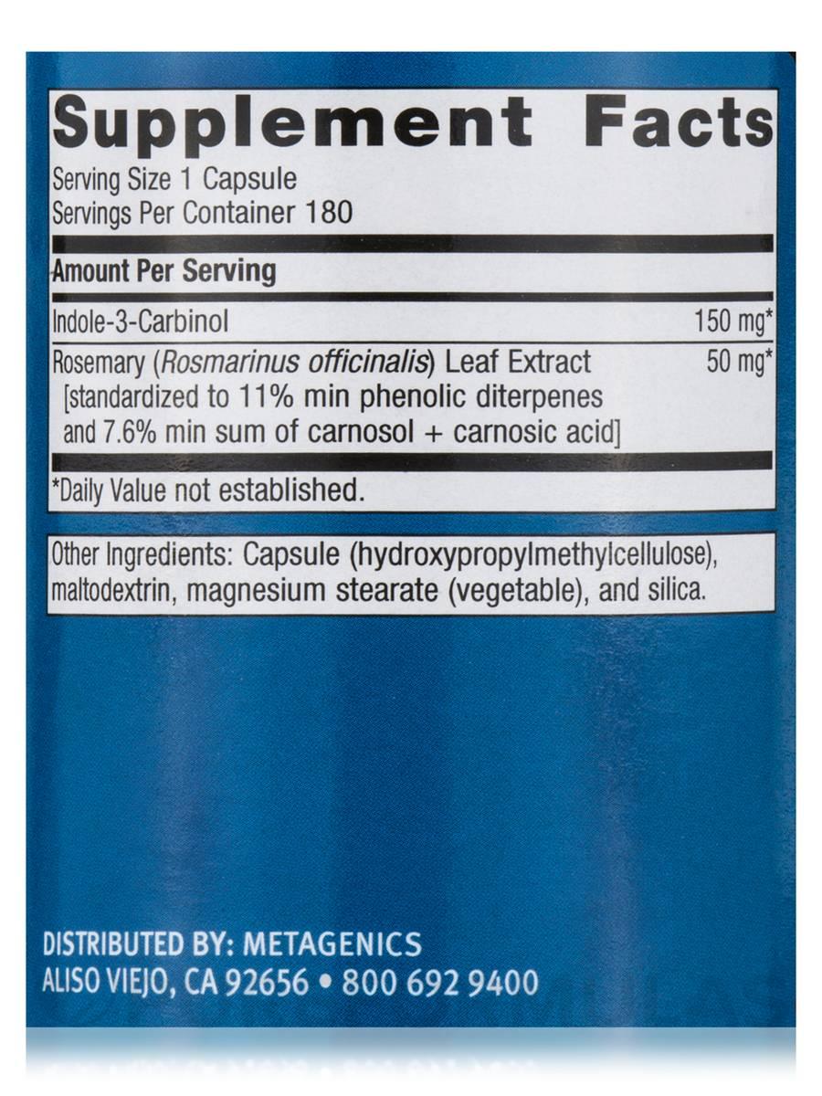 Ingredients in meta health bars - Meta I 3 C 180 Capsules