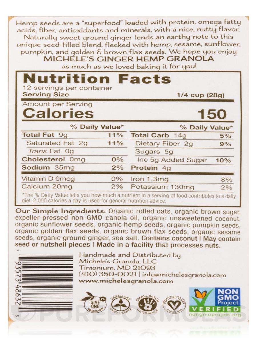 Granola Ginger Hemp - 12 oz (340 Grams