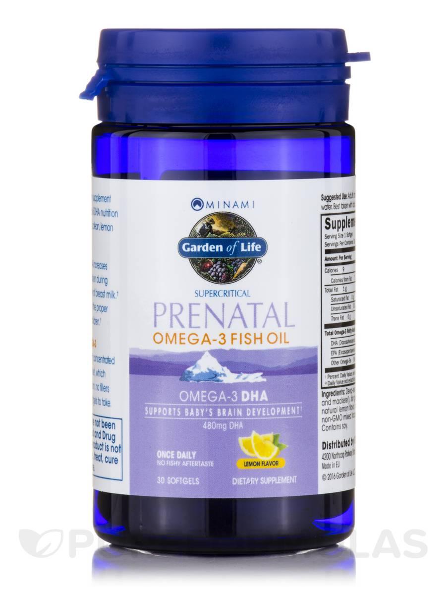 Supercritical prenatal omega 3 fish oil lemon flavor 30 for Giving dogs fish oil