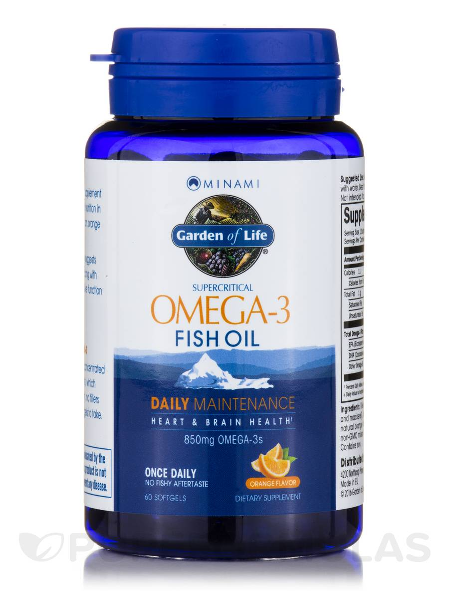 Supercritical omega 3 fish oil orange flavor 60 softgels for Pro omega fish oil