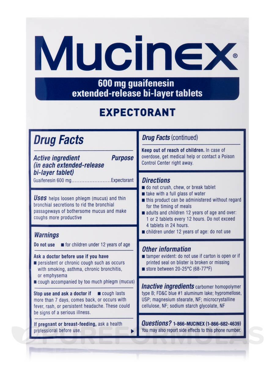 mucinex 600 mg   100 extended release bi layer tablets