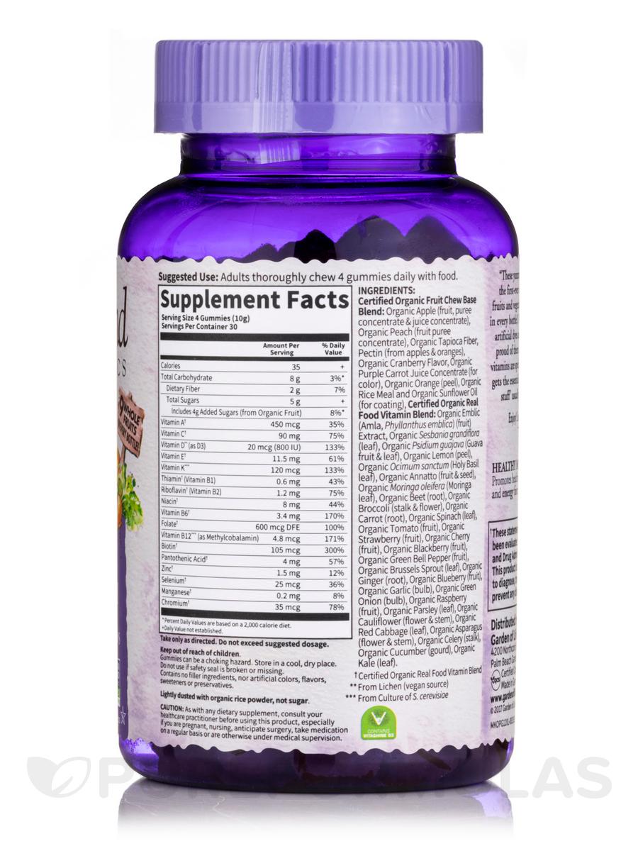 Organic prenatal gummy vitamins