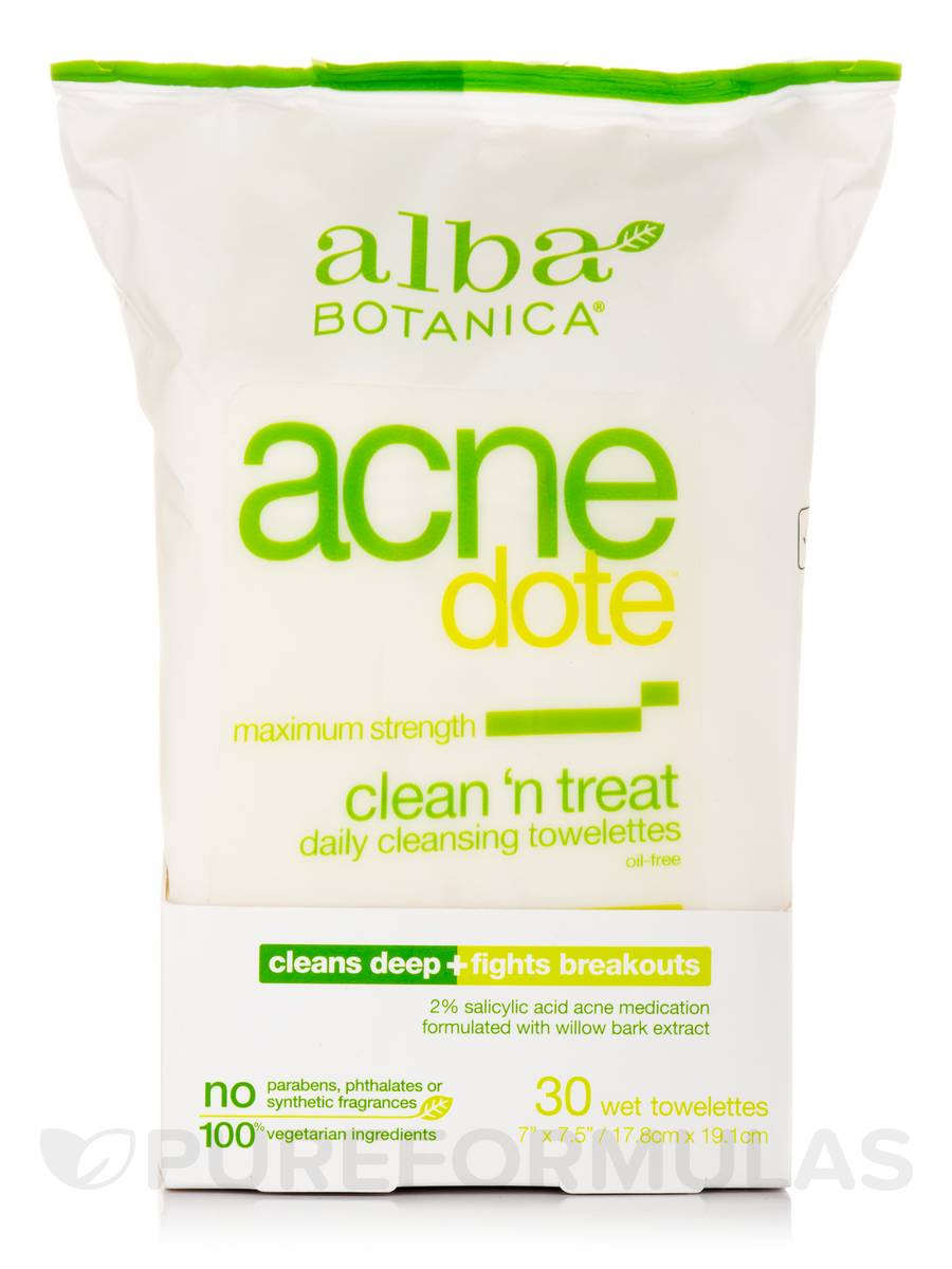 Alba Botanica - Natural ACNEdote Clean n Treat Towelettes(pack of 6) Harmonie Calm Soothing Milky Cream - Sensitive Skin-50ml/1.69oz