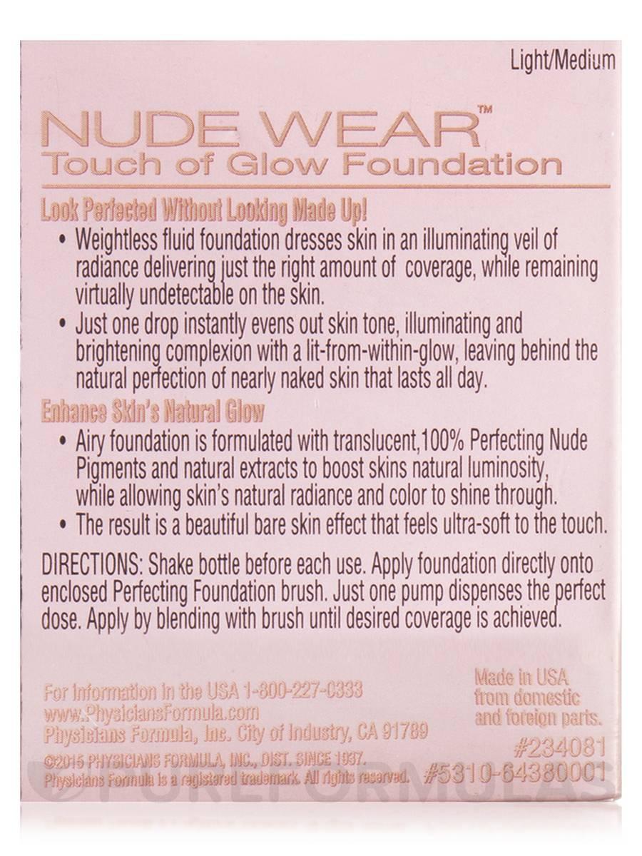Nude Wear Touch Of Glow Foundation, Lightmedium - 1 Fl Oz 30 Ml-8164
