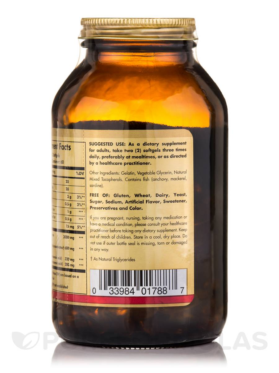 Omega 3 fish oil concentrate 120 softgels for Giving dogs fish oil