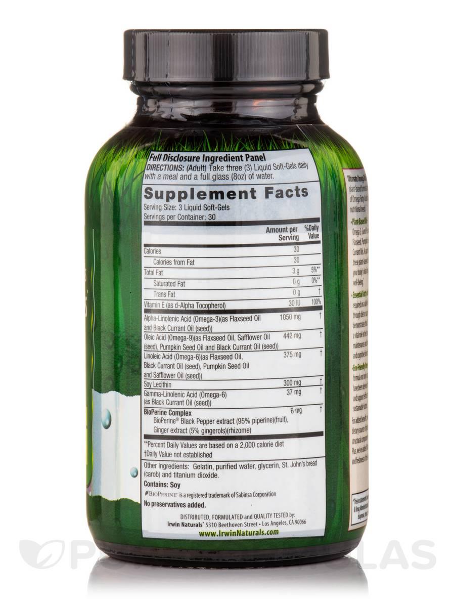 Multi Source Ultimate Omega Oils Flaxseed Plus 90 Liquid Soft Gels Udos Oil 369