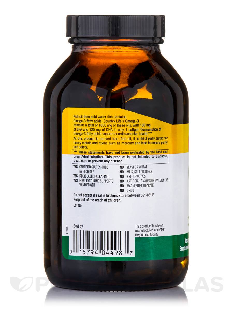 Omega 3 1000 mg fish oil 200 softgels for Giving dogs fish oil